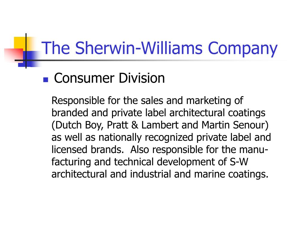 Sherwin williams subsidiaries