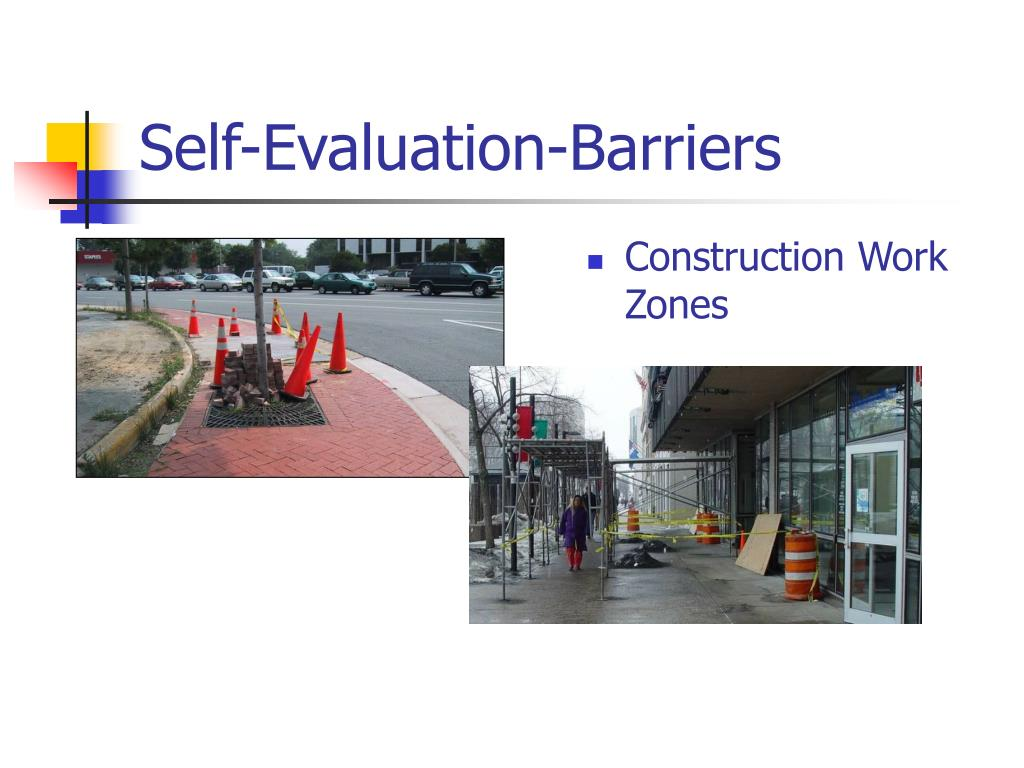 Self-Evaluation-Barriers