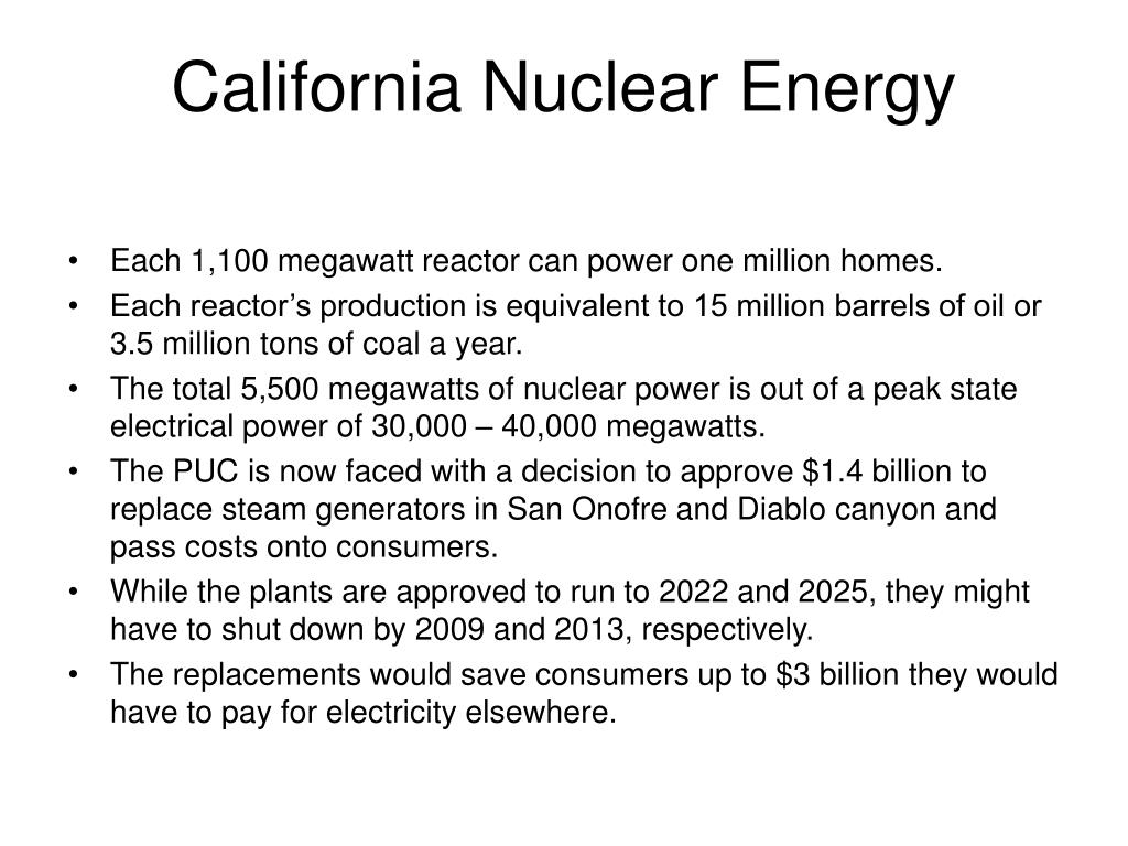 California Nuclear Energy