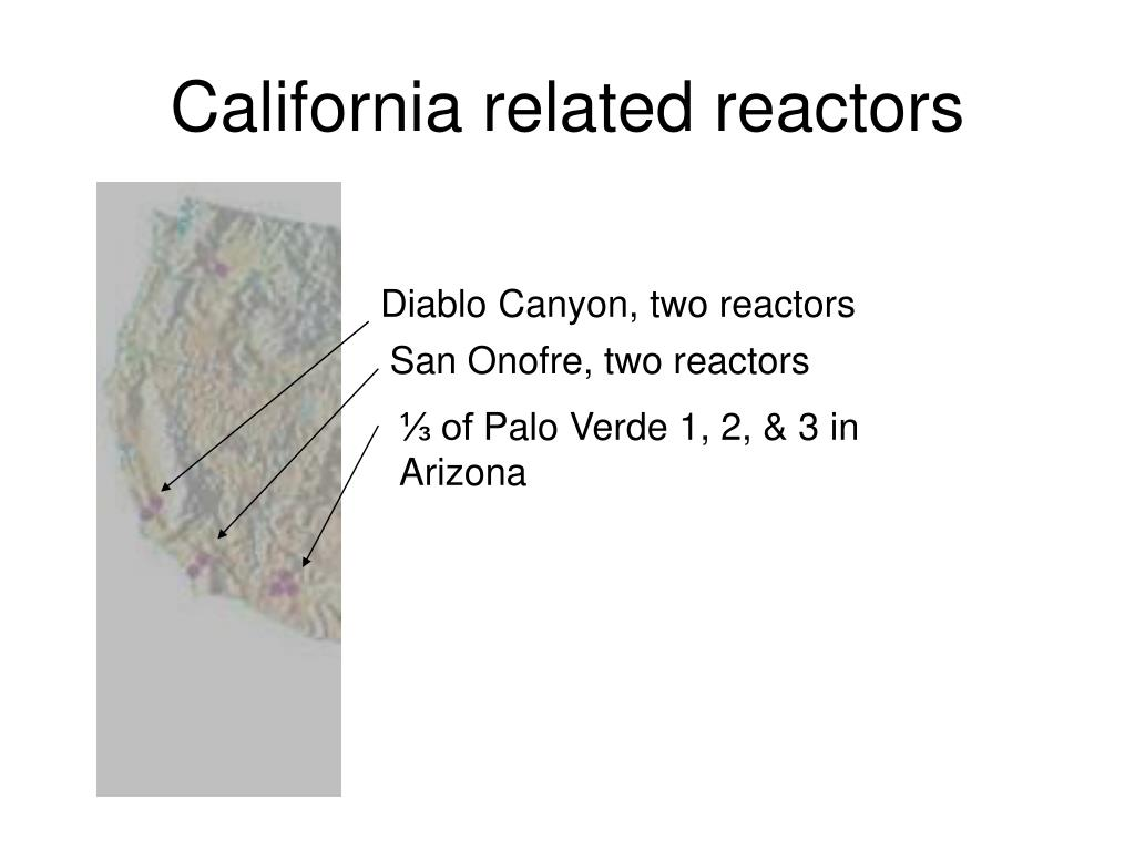 California related reactors