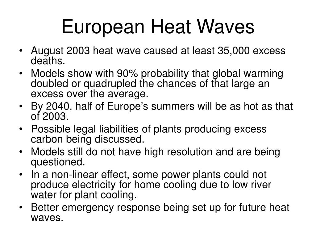 European Heat Waves