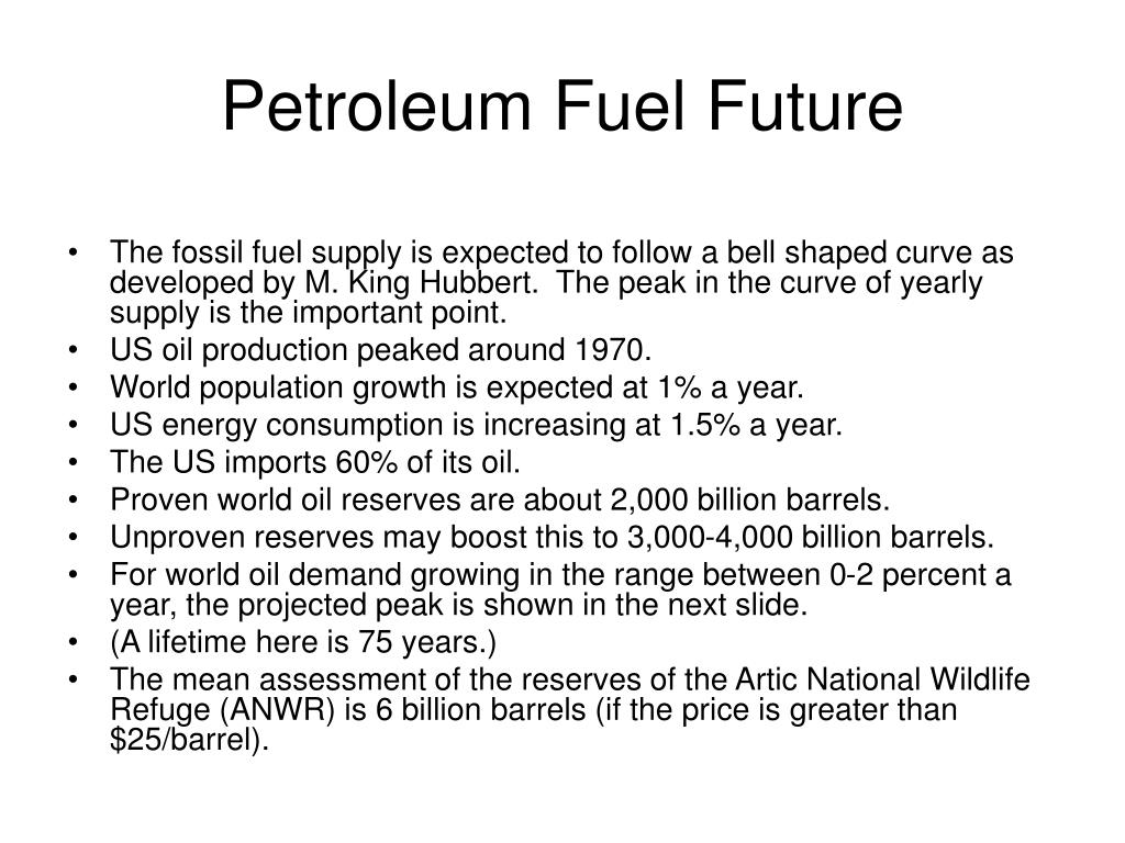 Petroleum Fuel Future