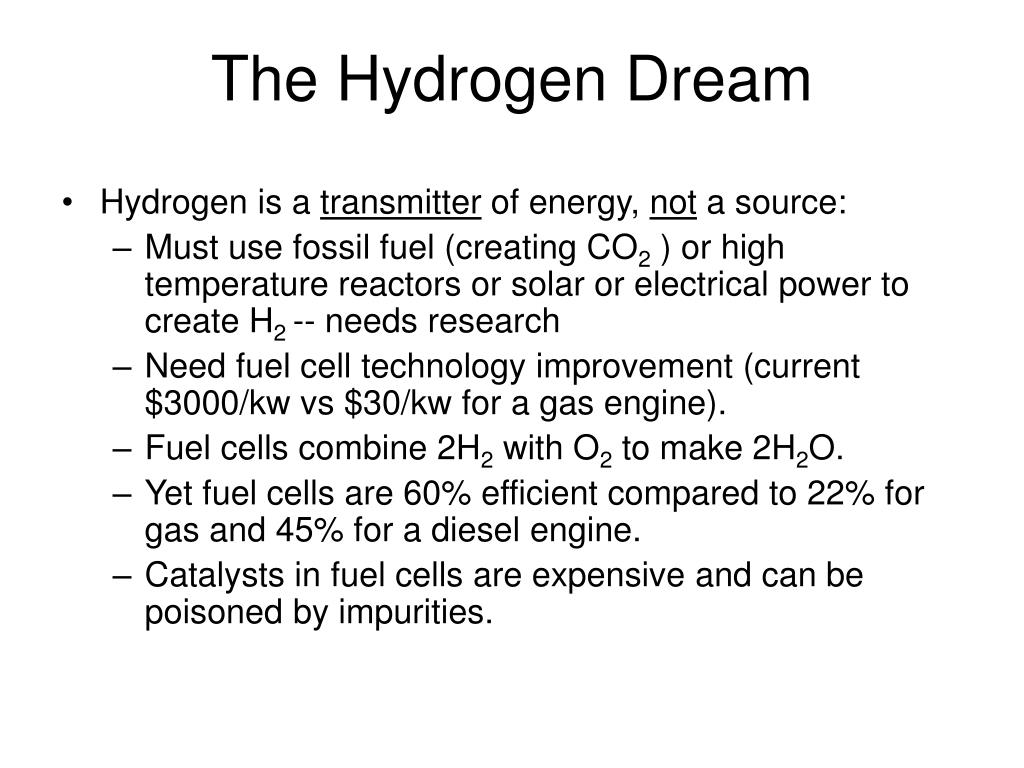 The Hydrogen Dream