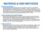 materials and methods5