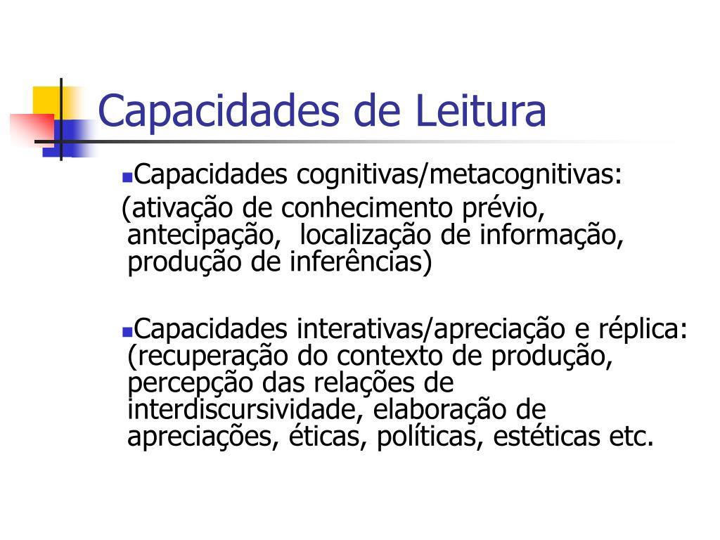Capacidades de Leitura