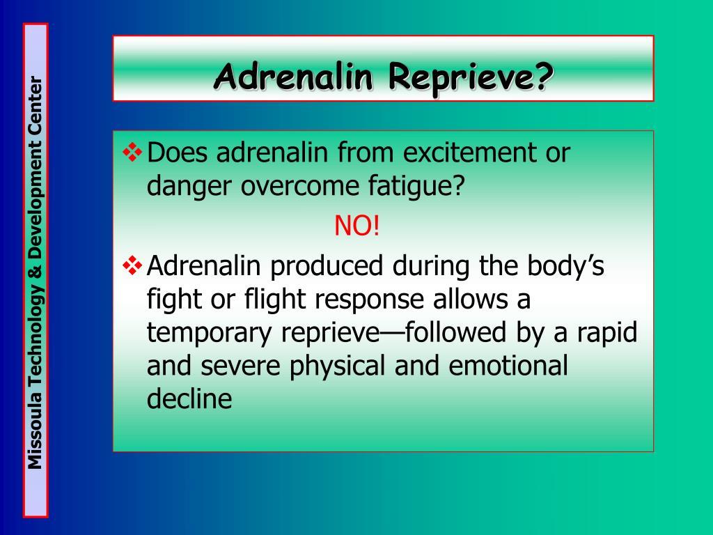Adrenalin Reprieve?