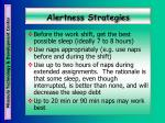 alertness strategies