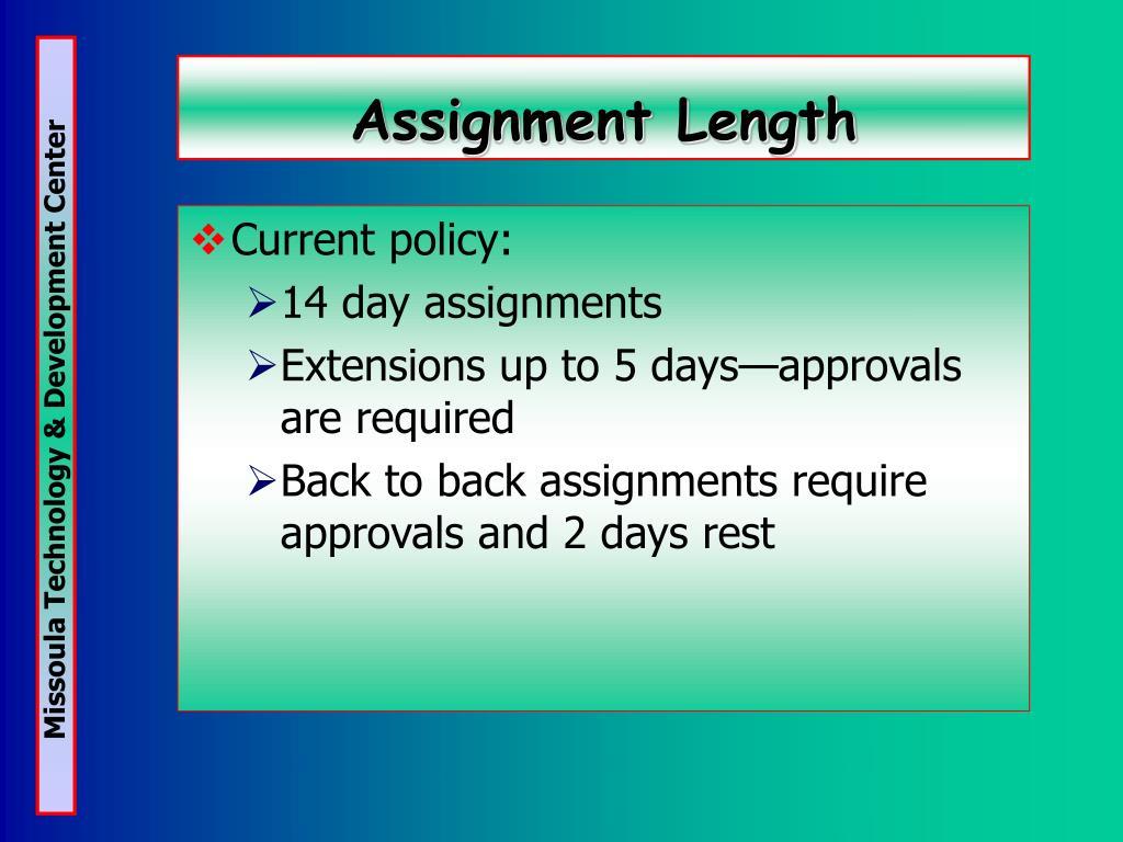 Assignment Length
