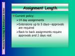 assignment length