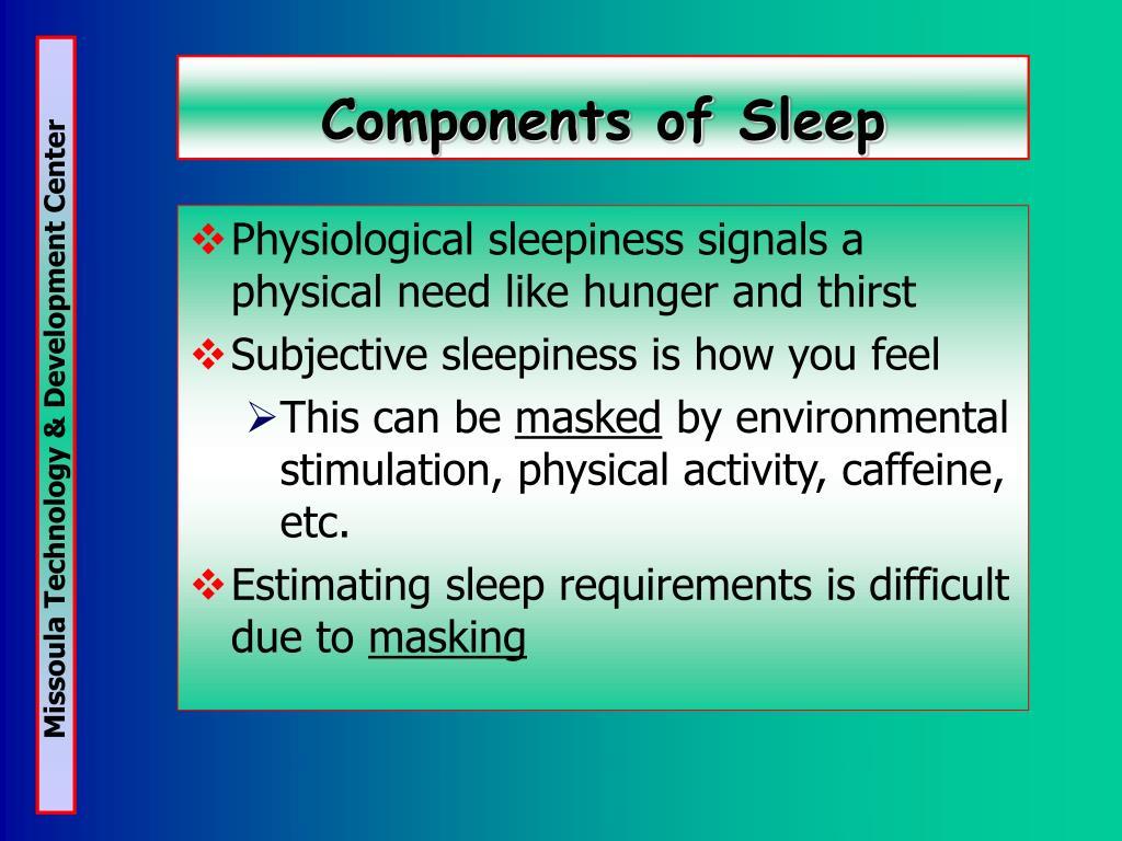 Components of Sleep