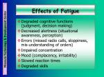 effects of fatigue