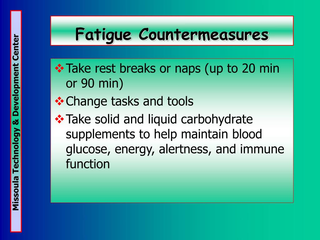 Fatigue Countermeasures