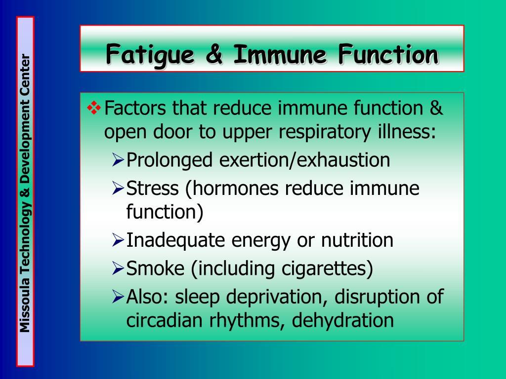 Fatigue & Immune Function
