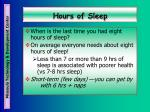 hours of sleep