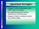 operational strategies38