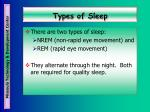 types of sleep
