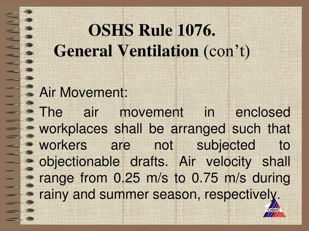 OSHS Rule 1076.