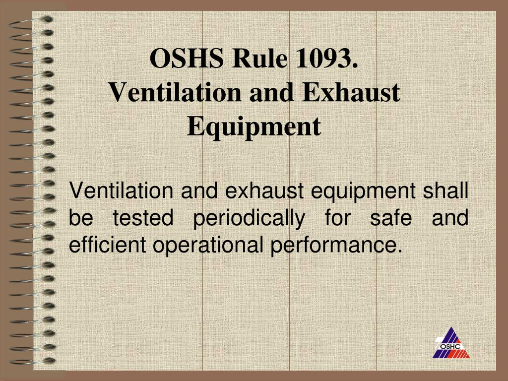 OSHS Rule 1093.