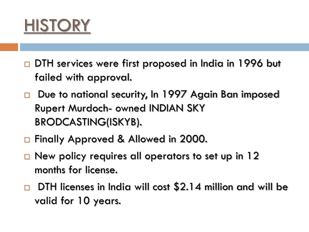 history of dth