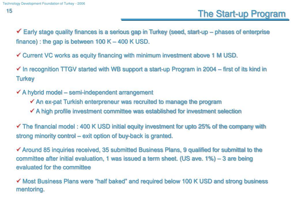 The Start-up Program