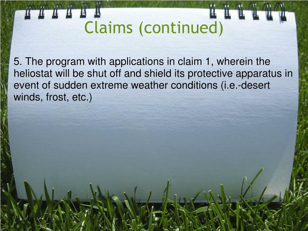 Claims (continued)
