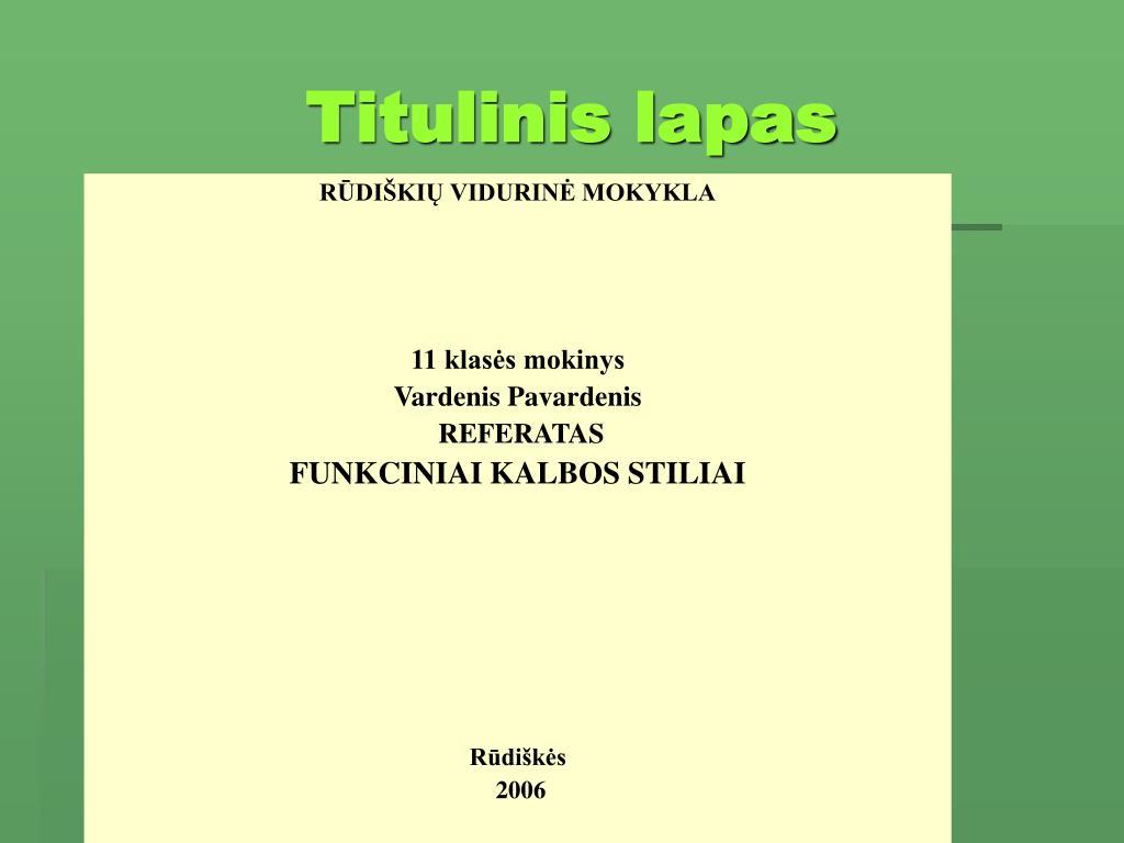 Titulinis lapas