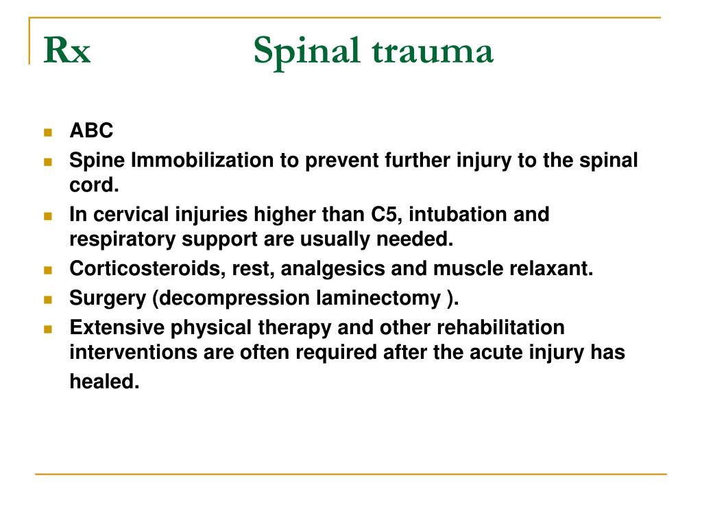 RxSpinal trauma
