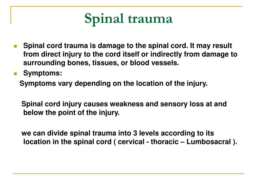 Spinal trauma