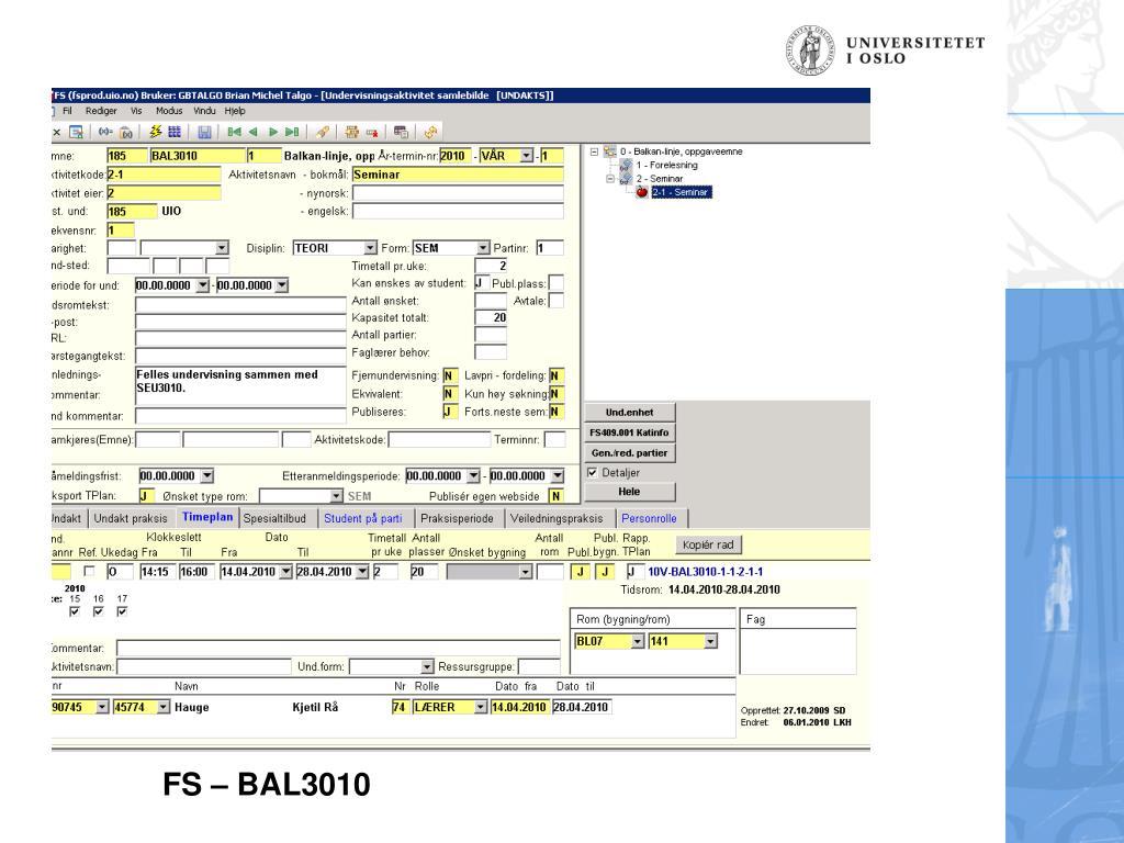 FS – BAL3010