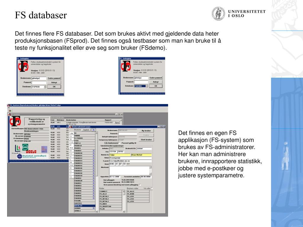 FS databaser