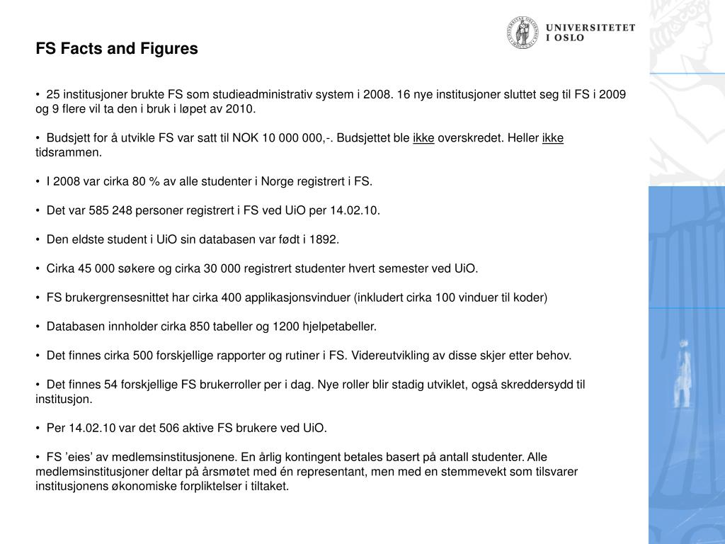 FS Facts and Figures