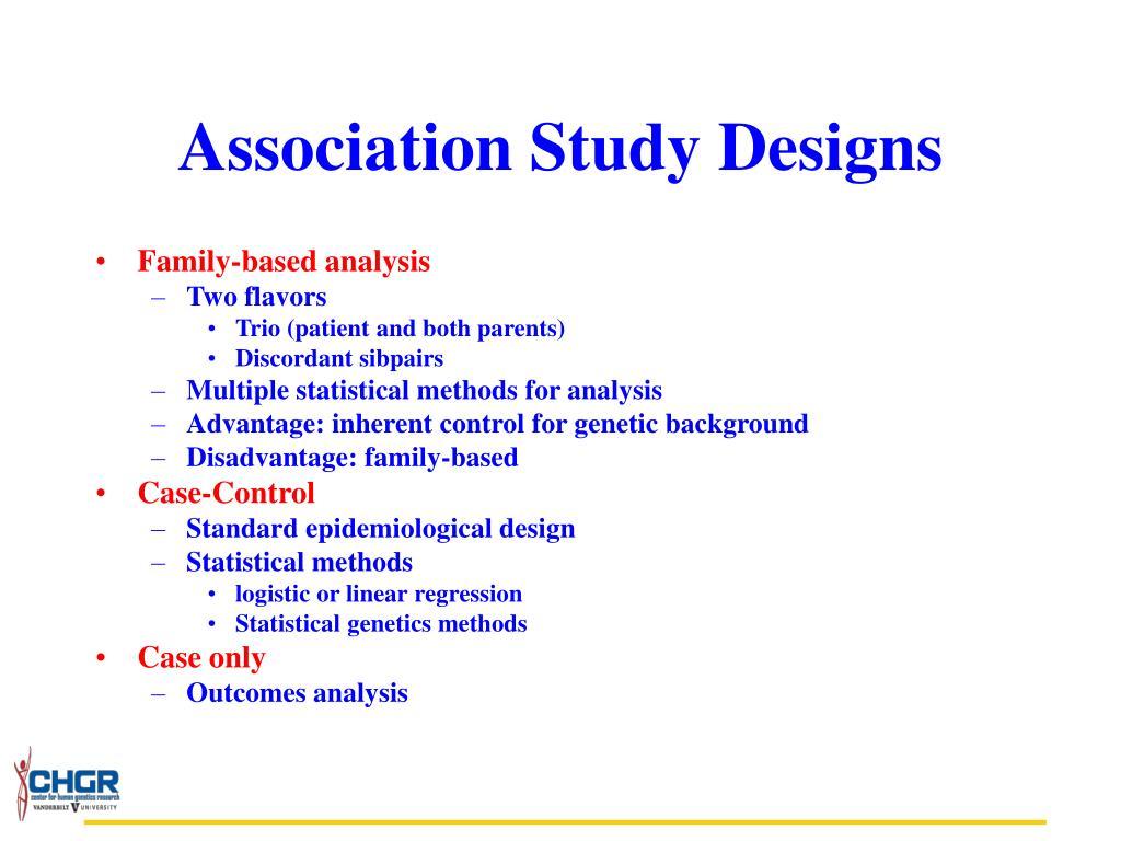 Association Study Designs