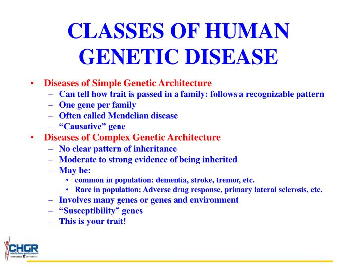 Classes of human genetic disease