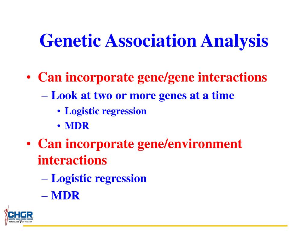 Genetic Association Analysis