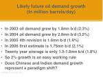 likely future oil demand growth in million barrels day