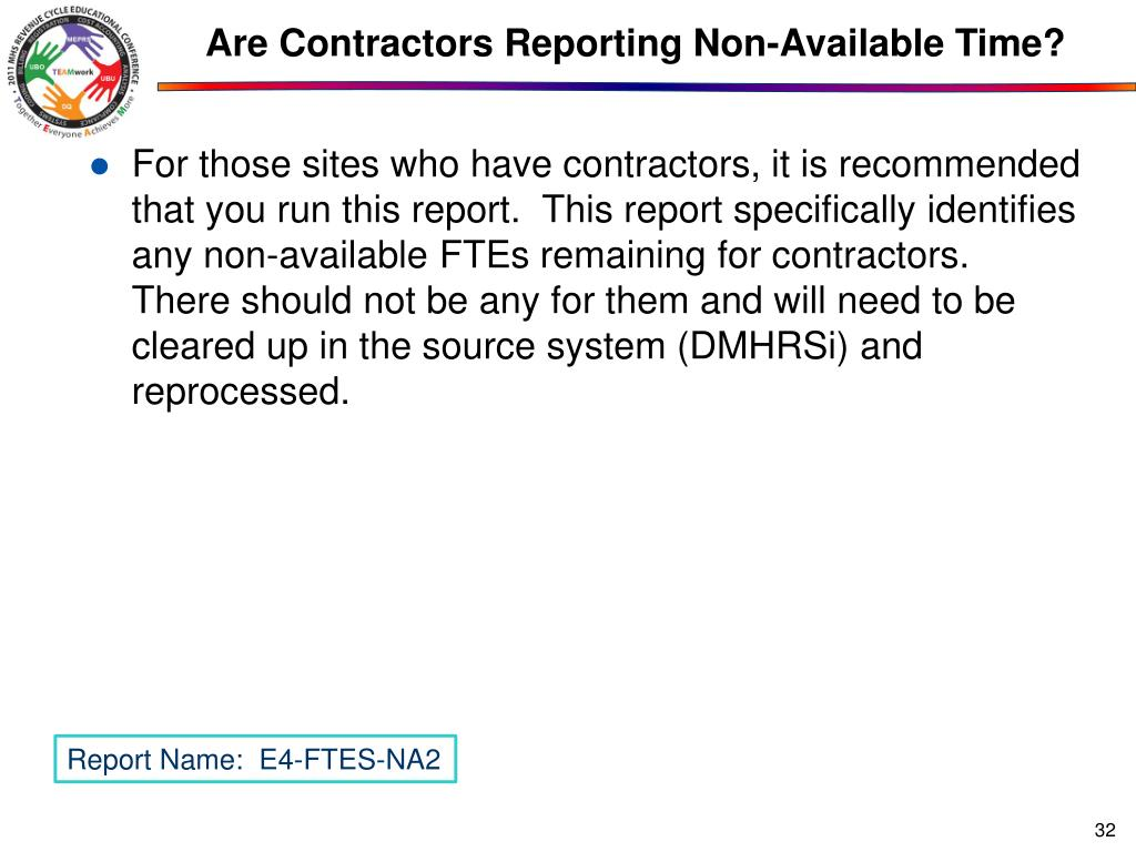 Are Contractors Reporting Non-Available Time?