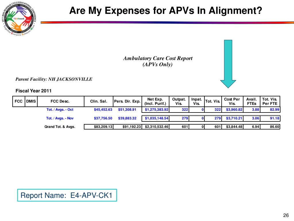 Are My Expenses for APVs In Alignment?