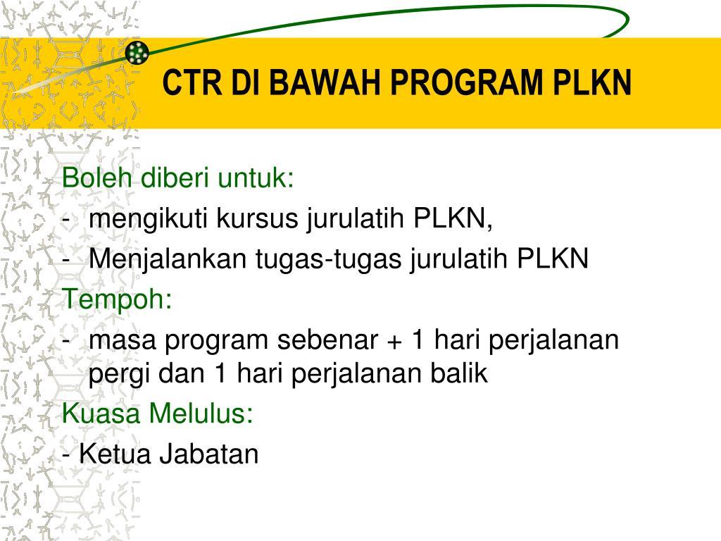 CTR DI BAWAH PROGRAM PLKN