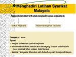 menghadiri latihan syarikat malaysia