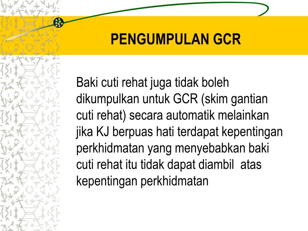 PENGUMPULAN GCR