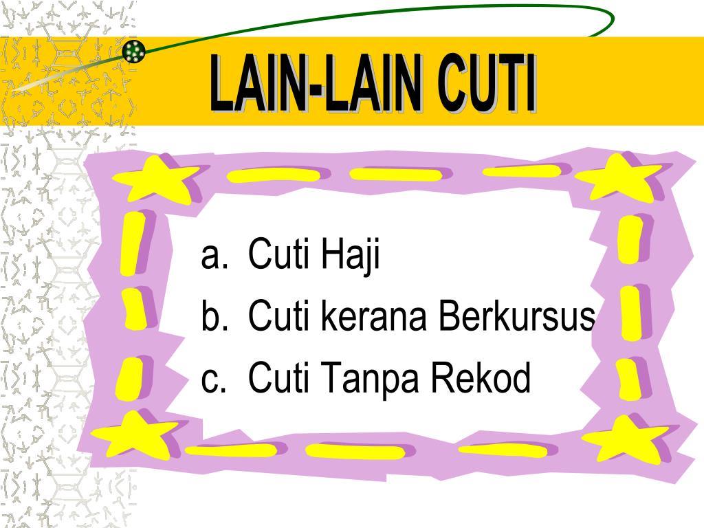 LAIN-LAIN CUTI