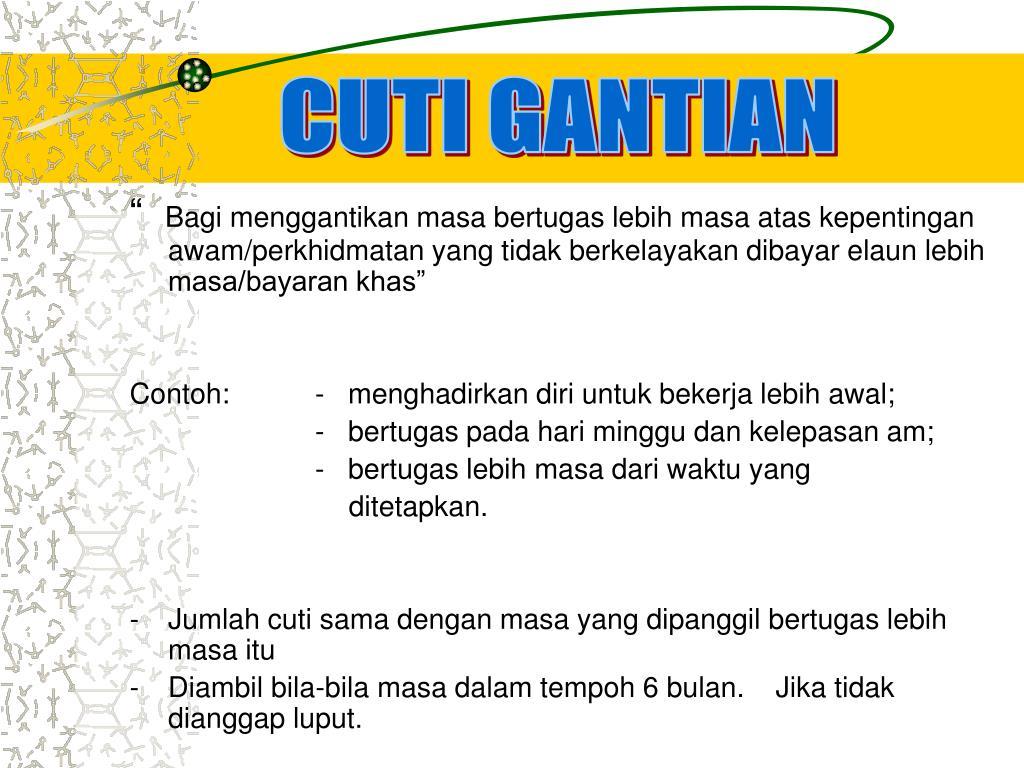 CUTI GANTIAN