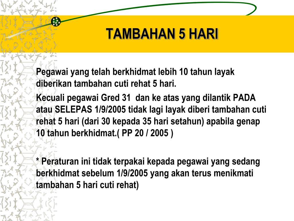 TAMBAHAN 5 HARI