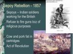 sepoy rebellion 1857