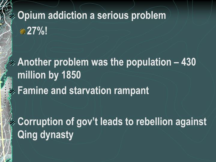 Opium addiction a serious problem