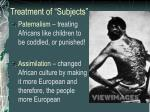 treatment of subjects