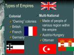 types of empires