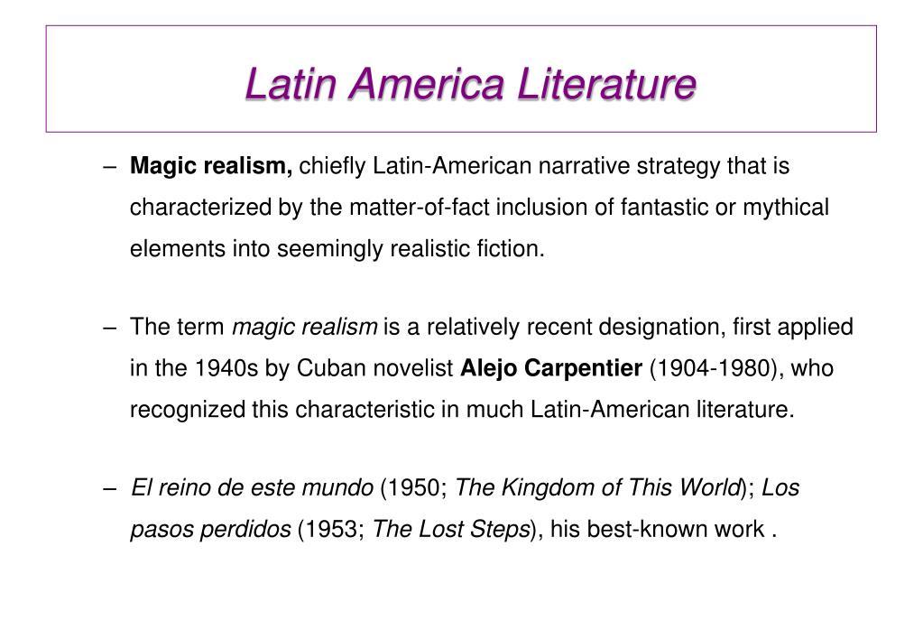 alejo carpentier magical realism essay