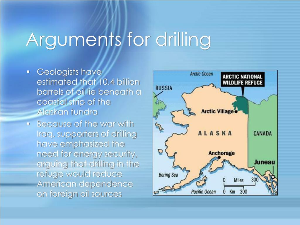 Arguments for drilling