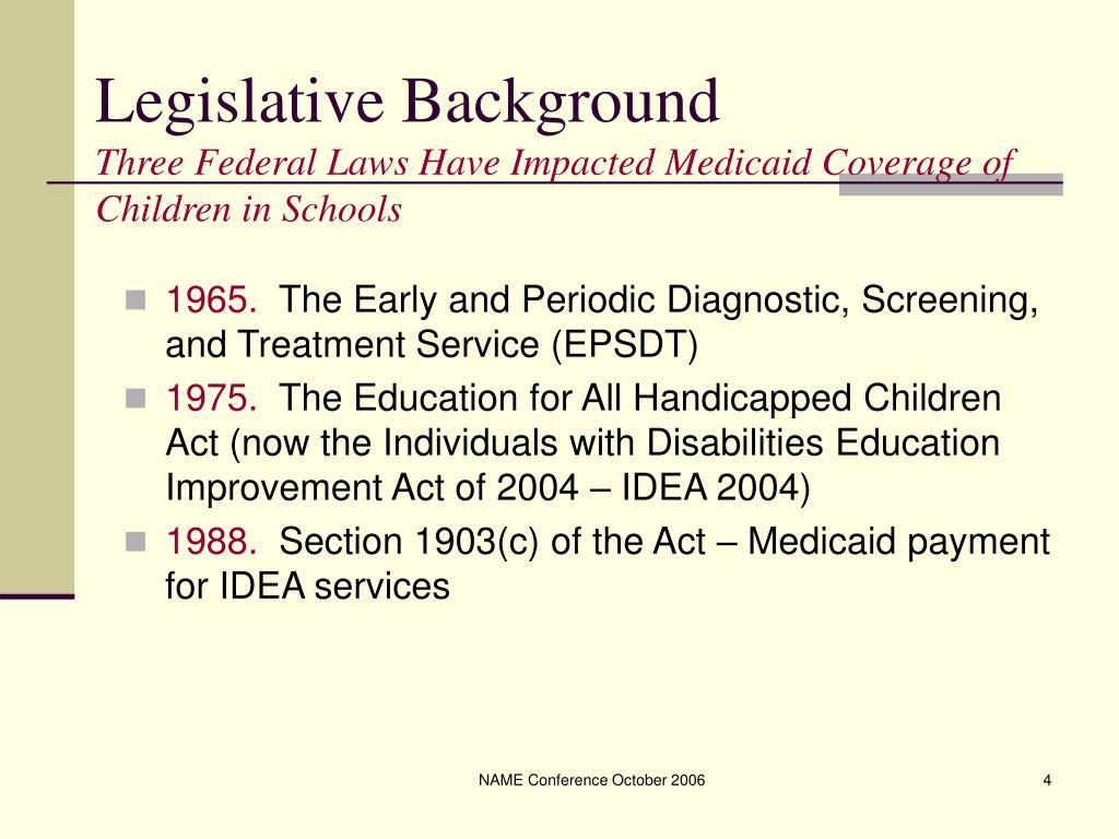 Legislative Background
